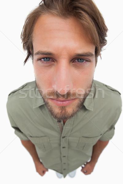 Overhead angle of serious man Stock photo © wavebreak_media