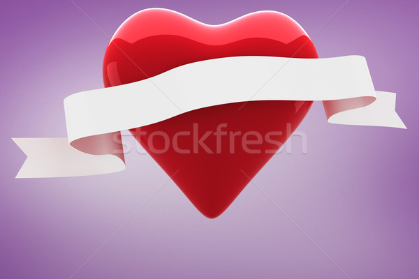 Composite image of heart with scroll Stock photo © wavebreak_media