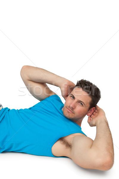 вид сбоку портрет молодым человеком брюшной спорт здоровья Сток-фото © wavebreak_media