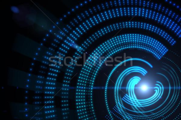 Digitalmente generato spirale blu party Foto d'archivio © wavebreak_media