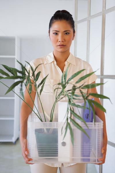 Empresária caixa coisas escritório retrato Foto stock © wavebreak_media