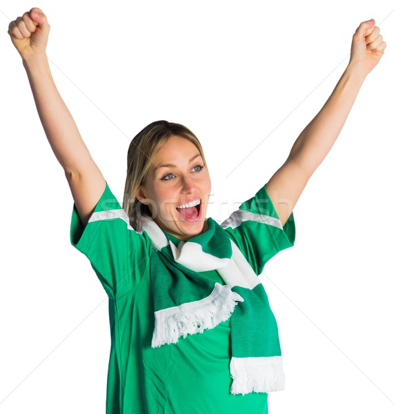 Fútbol ventilador verde feliz energía Foto stock © wavebreak_media