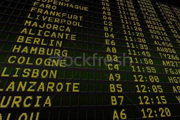 Black airport departures board Stock photo © wavebreak_media