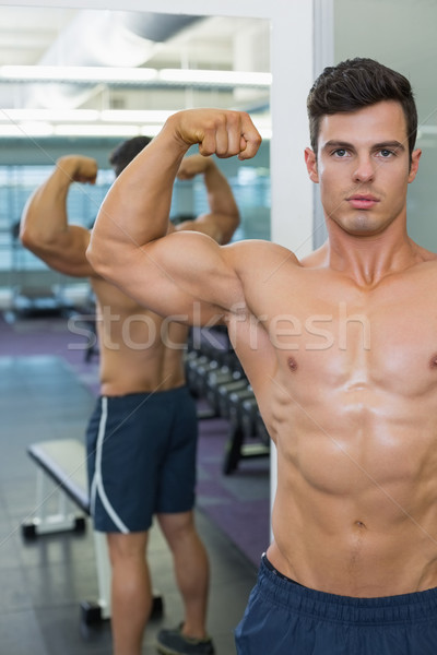 Torse nu musculaire homme muscles gymnase portrait Photo stock © wavebreak_media