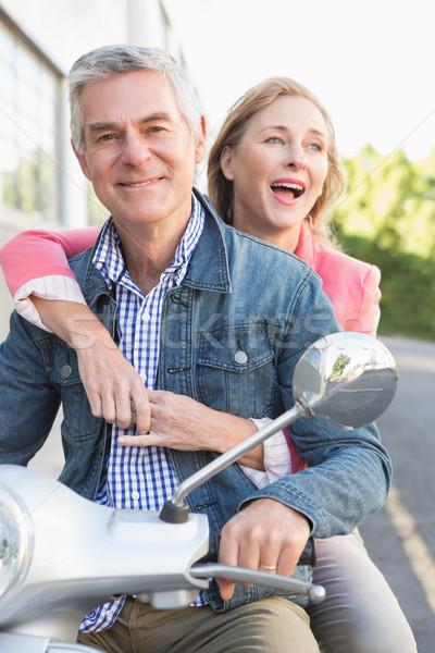 Feliz casal de idosos equitação primavera homem Foto stock © wavebreak_media