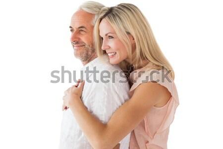 Hartelijk paar permanente witte vrouw Stockfoto © wavebreak_media