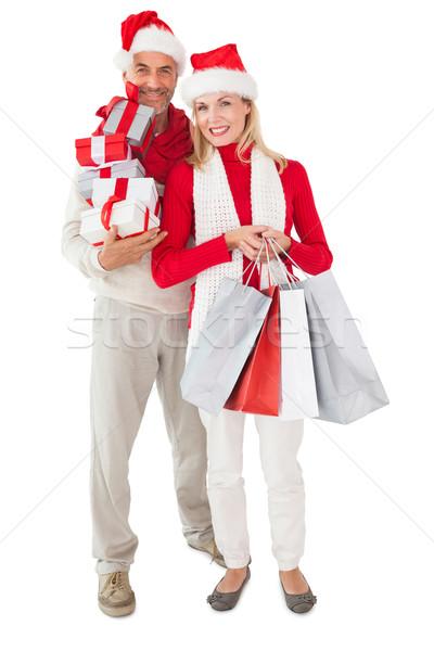 Casal presentes branco Foto stock © wavebreak_media