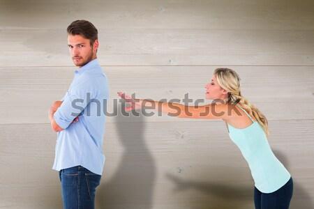 Désespérée copain blanche homme couple Photo stock © wavebreak_media