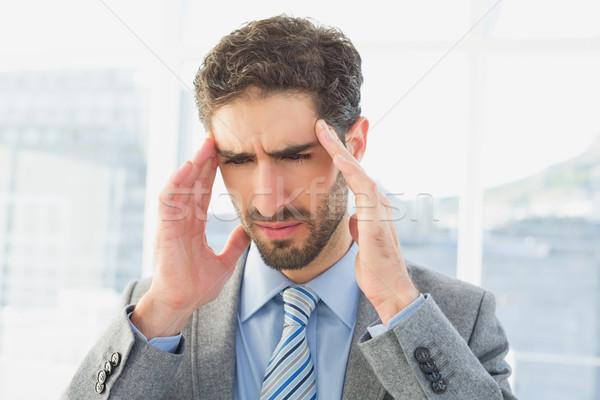 Empresário sofrimento dor de cabeça trabalhar negócio escritório Foto stock © wavebreak_media