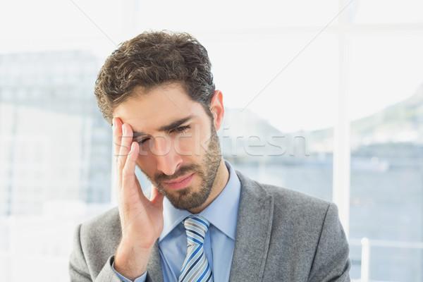 üzletember szenvedés fejfájás munka üzlet iroda Stock fotó © wavebreak_media