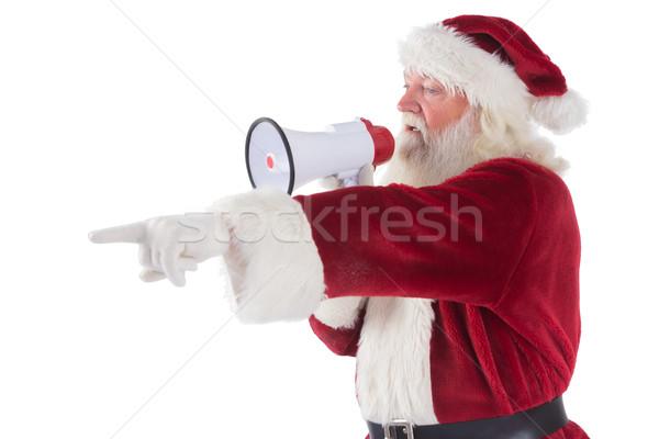 Pontos algo megafone branco homem Foto stock © wavebreak_media