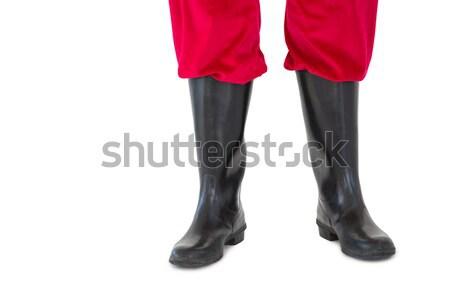 Alsó fél lábak fehér karácsony csizma Stock fotó © wavebreak_media