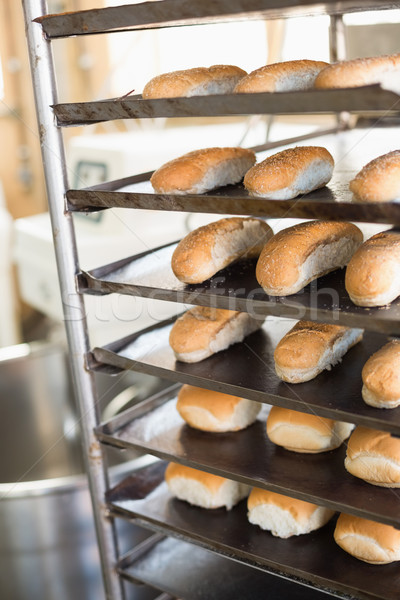 Bread rolls on trays of shelf  Stock photo © wavebreak_media
