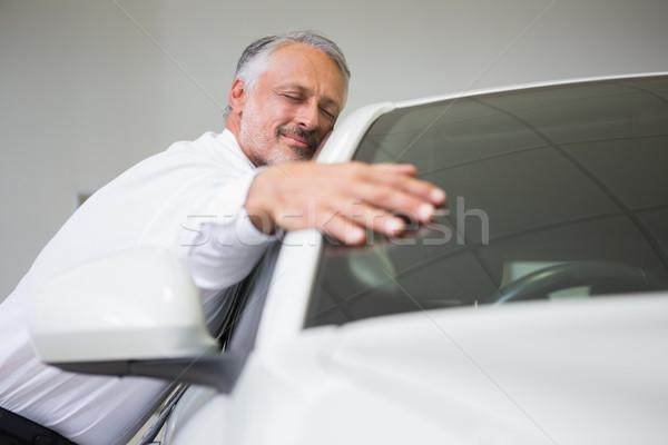 Man hugging on a car Stock photo © wavebreak_media
