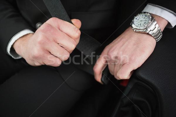 ビジネスマン 座席 ベルト 車 道路 ストックフォト © wavebreak_media