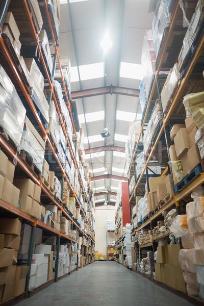 Półki pola magazynu działalności przemysłu Zdjęcia stock © wavebreak_media