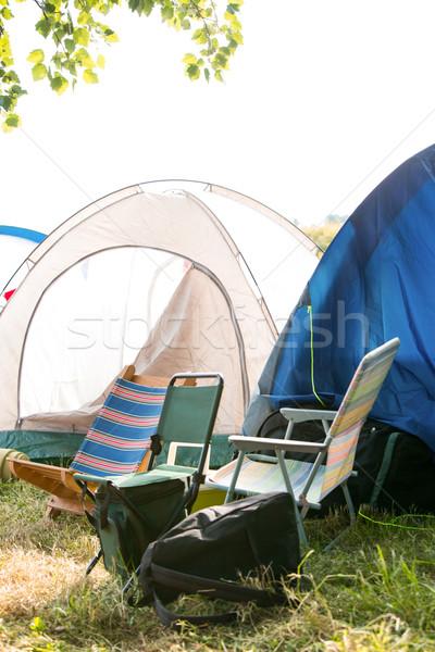 üres táborhely zenei fesztivál napos idő nyár napsütés Stock fotó © wavebreak_media