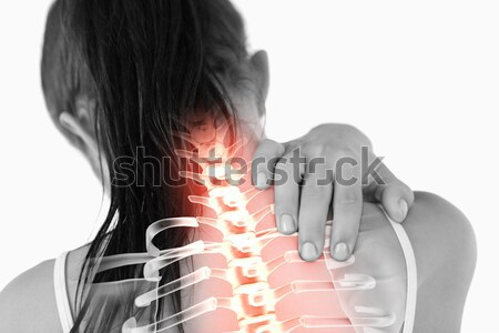 Highlighted spine of woman with neck pain Stock photo © wavebreak_media
