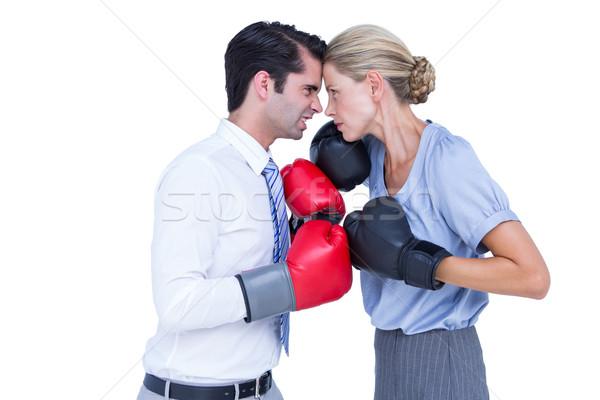 ビジネスの方々  着用 ボクシング 赤 手袋 白 ストックフォト © wavebreak_media