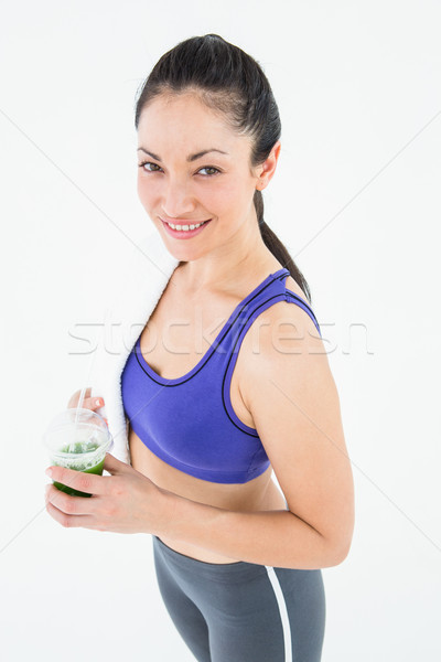 Mulher atraente verde suco branco mulher Foto stock © wavebreak_media