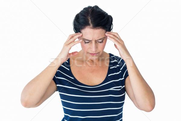 женщину мигрень белый здоровья голову женщины Сток-фото © wavebreak_media