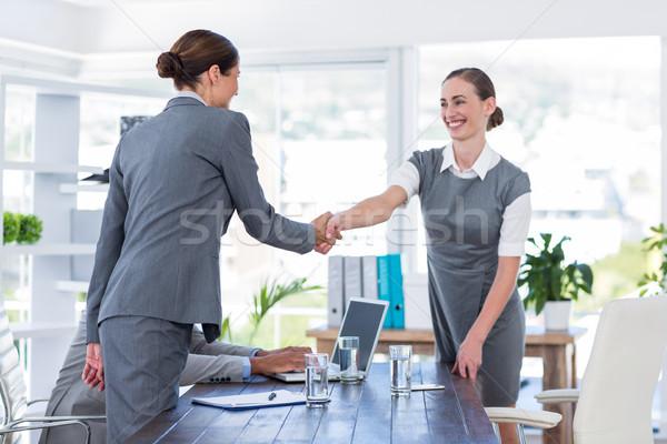 Ludzi biznesu Shake Hands wywiad biuro człowiek spotkanie Zdjęcia stock © wavebreak_media