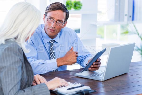 Poważny ludzi biznesu biuro technologii notebooka Zdjęcia stock © wavebreak_media