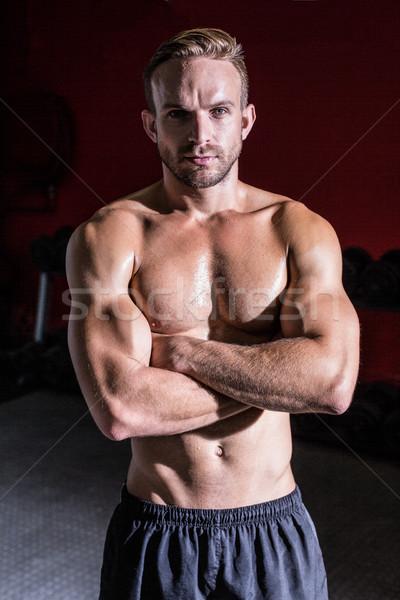 筋肉の 男 肖像 健康 ジム ストックフォト © wavebreak_media