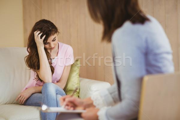 терапевт прослушивании пациент женщину женщины профессиональных Сток-фото © wavebreak_media