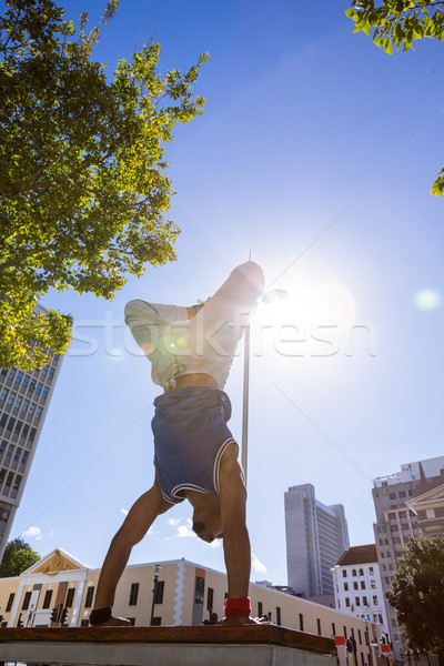Extreme athlete jumping in the air Stock photo © wavebreak_media