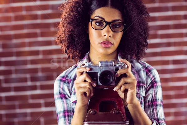 魅力的な ヒップスター 肖像 赤 ストックフォト © wavebreak_media