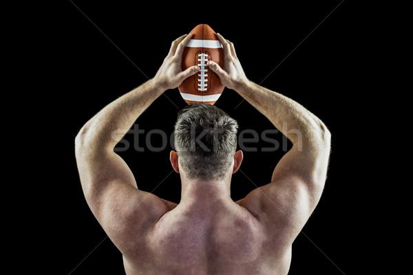 Półnagi amerykański piłka czarny sportu Zdjęcia stock © wavebreak_media