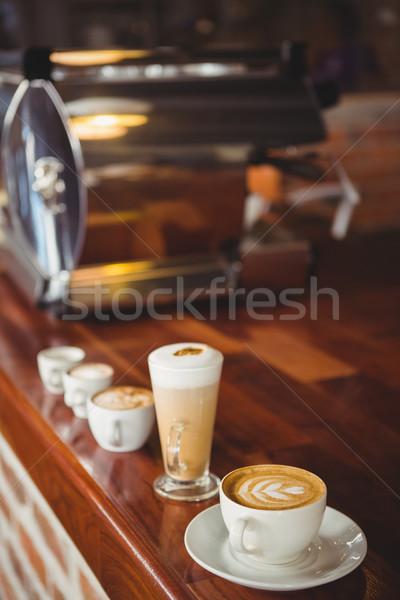 несколько горячей напитки борьбе кофейня Сток-фото © wavebreak_media