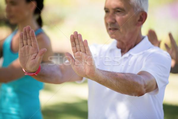 Senior homem parque mulher Foto stock © wavebreak_media
