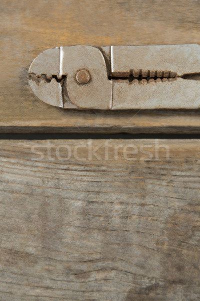 Overhead close up of pliers on table Stock photo © wavebreak_media