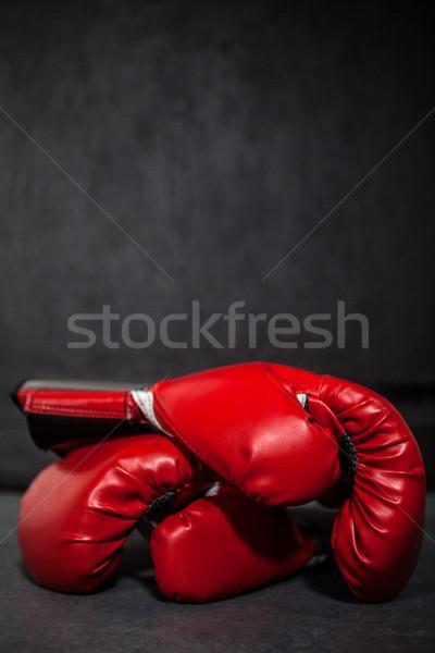 Bokshandschoenen fitness studio gezondheid sport Stockfoto © wavebreak_media