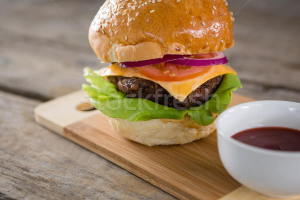 Cheeseburger molho madeira tomates Foto stock © wavebreak_media