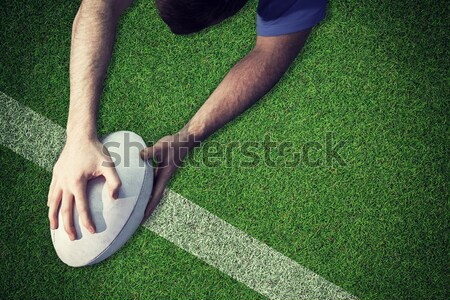 Low section of woman playing rugby Stock photo © wavebreak_media