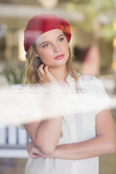 A thoughtful woman looking away Stock photo © wavebreak_media