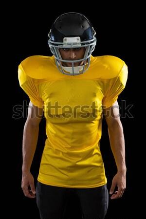 Stockfoto: Amerikaanse · voetballer · permanente · stadion · pijlen · digitale · composiet