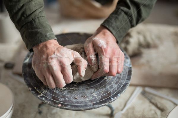 Male potter molding a clay Stock photo © wavebreak_media