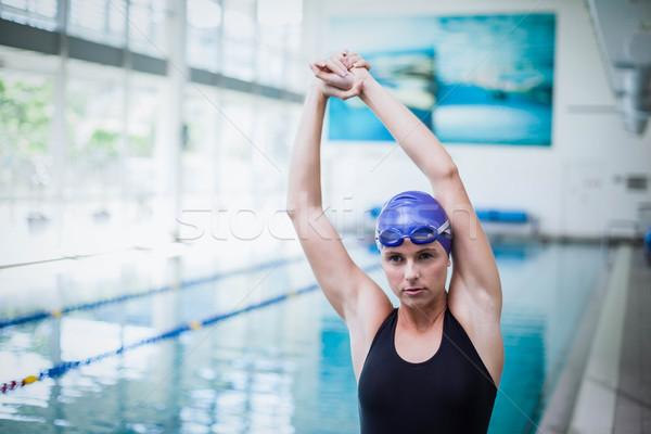 Stock photo: Pretty woman stretching