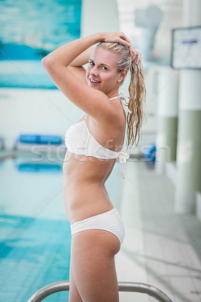 魅力のある女性 水 プール 女性 幸せ 健康 ストックフォト © wavebreak_media