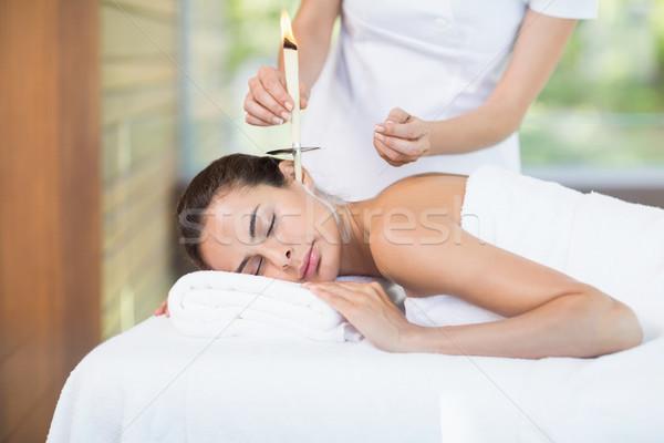 Güzel bir kadın terapi kadın masör kadın Stok fotoğraf © wavebreak_media
