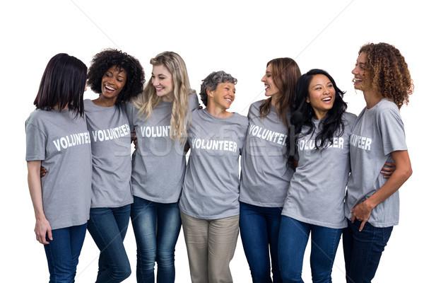 Portrait of volunteers standing together Stock photo © wavebreak_media