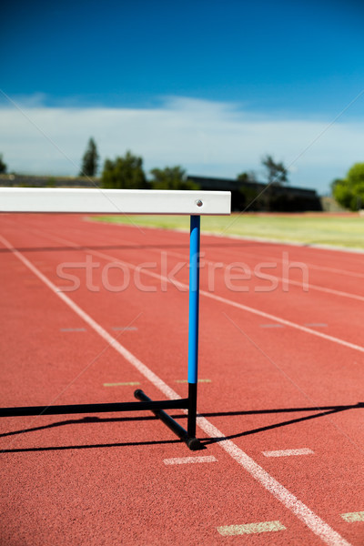 Hurdle on running track Stock photo © wavebreak_media