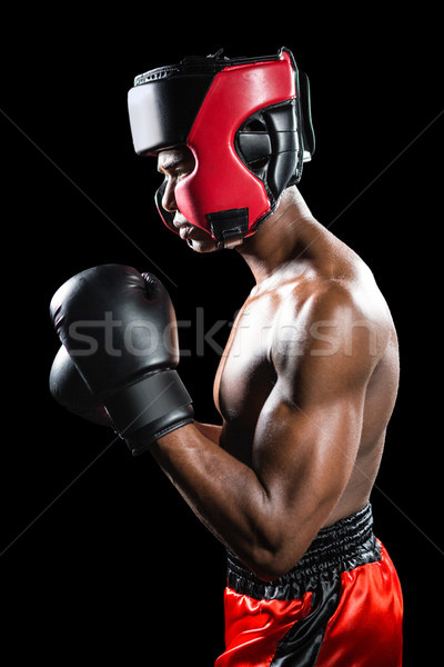 Boxer performing boxing stance Stock photo © wavebreak_media
