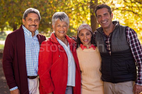 Feliz dois geração família parque retrato Foto stock © wavebreak_media