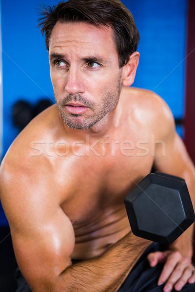 Torse nu athlète gymnase fitness Photo stock © wavebreak_media
