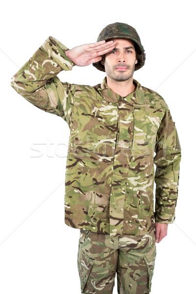 Portre asker ayakta adam savaş eğlence Stok fotoğraf © wavebreak_media